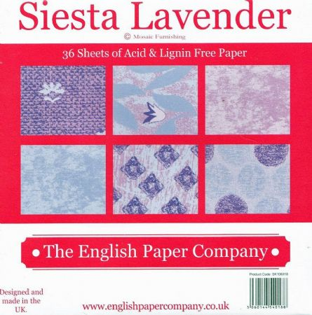 "Siesta Lavender 36 Sheets 6"" x 6"" Paper Pad by Mosaic Furnishing."
